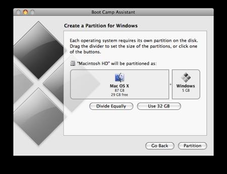 Membuat partisi untuk windows pada MAC