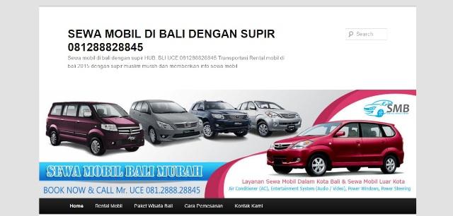Seo Website Sewa Mobil di Bali