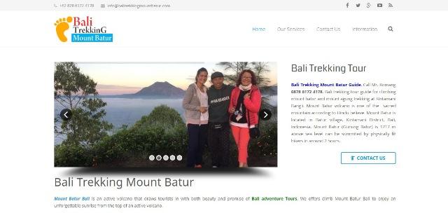 Seo Website trekking mount batur bali
