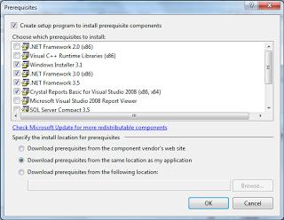 Cara Membuat Setup VBnet 2008 include Crystal Report