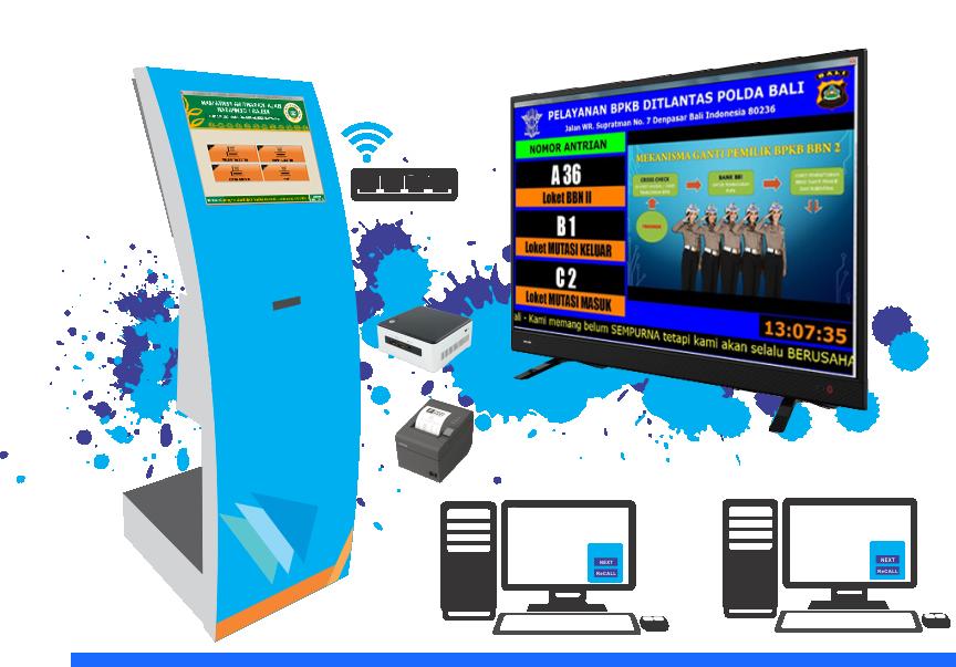 Paket Sistem Antrian QZE Tipe Tinggi Sistem