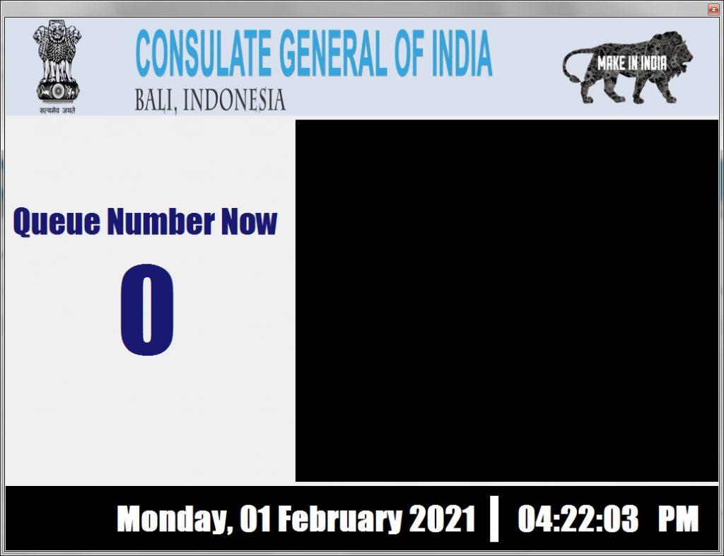 Sistem antrian konsulat india bali - 081916309099